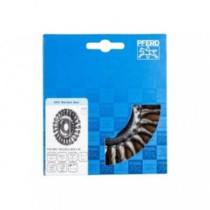 Szczotki tarczowe, plecione POS RBG 12512/22,2 INOX 0,50 Pferd 43303008 1szt