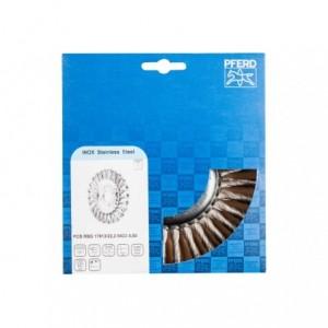 Szczotki tarczowe, plecione POS RBG 17813/22,2 INOX 0,50 Pferd 43304002 1szt